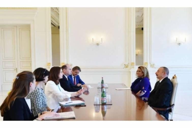 Prezident İlham Əliyev avstriyalı nazirin başçılıq etdiyi nümayəndə heyətini qəbul edib
