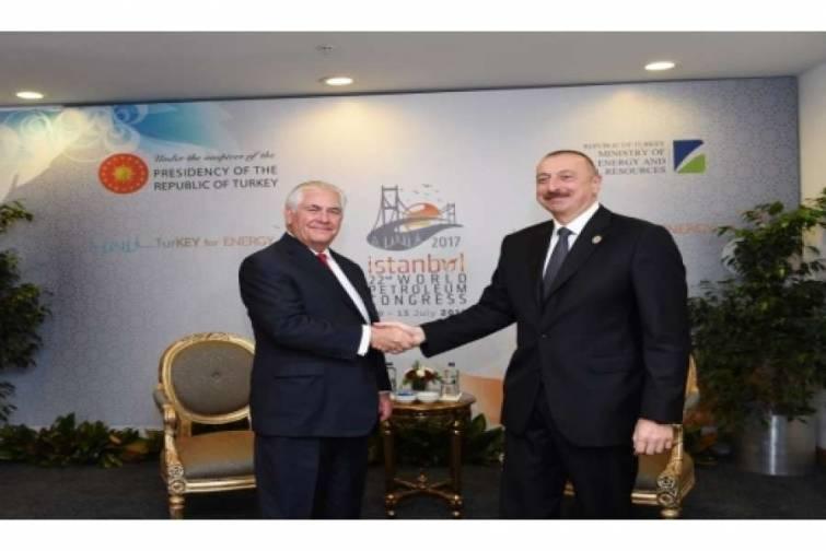 Azərbaycan Prezidenti İlham Əliyevin ABŞ-ın dövlət katibi ilə görüşü olub