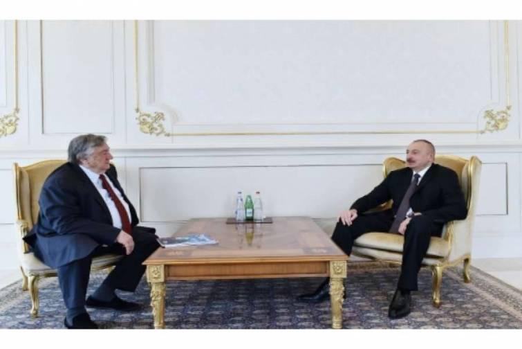 """Prezident İlham Əliyev Rusiyanın """"Zavtra"""" qəzetinin baş redaktorunu qəbul edib"""