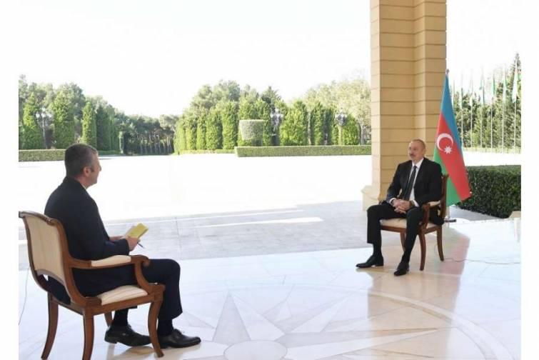 Azərbaycan Prezidenti İlham Əliyev CNN-Türk televiziyasına müsahibə verib