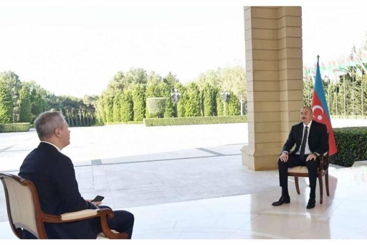 Prezident İlham Əliyev Rusiyanın RBK televiziya kanalına müsahibə verib