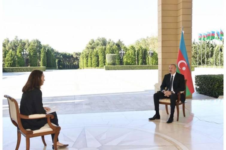"""Prezident İlham Əliyev """"France 24"""" televiziya kanalına müsahibə verib"""